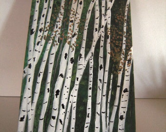 White Birch on Canvas  Trees Landscape Original