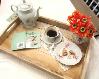Serving Tray Wooden Eco Friendly Reclaimed wood