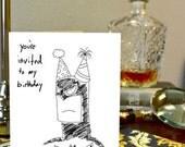 Batman Greeting Card The Dark Knight Birthday Hand Drawn Nerdy Card