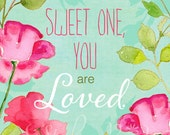 Watercolor Illustration Print Sweet One.