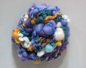 Handspun Art Yarn - Peacock Pebbles