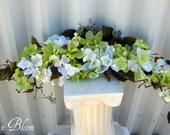 Orchid arch swag wedding decorations lime green white bridal flowers wedding bouquets ceremony decor