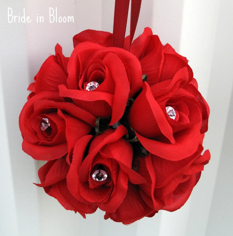 Wedding pomander silk flower ball flower girl pomander zoom dhlflorist Image collections