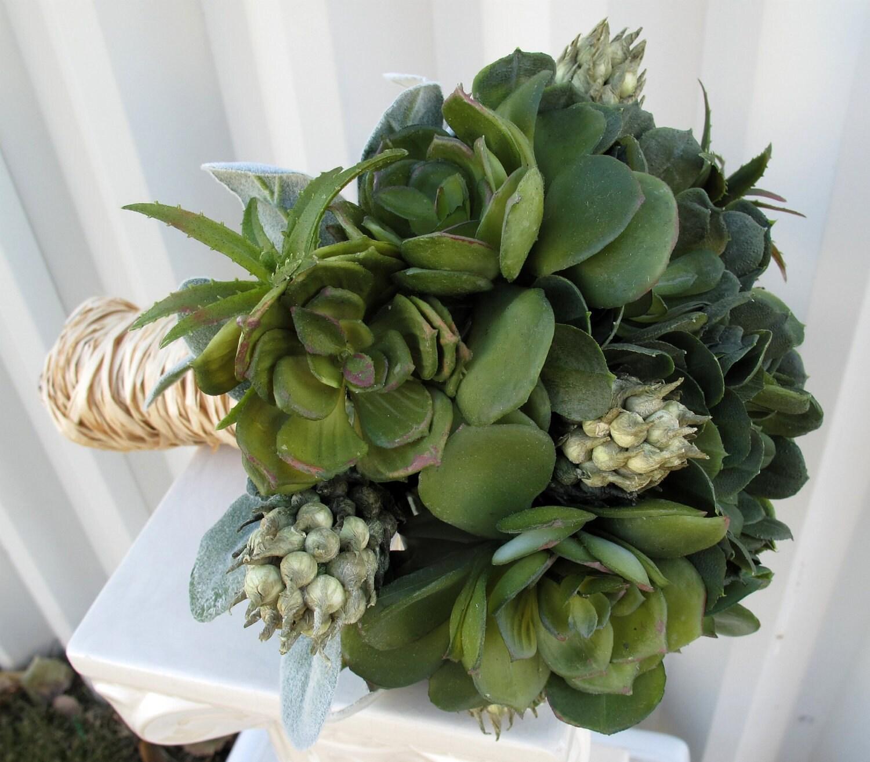 Items Similar To Wedding Bouquet Custom Succulent Bridal
