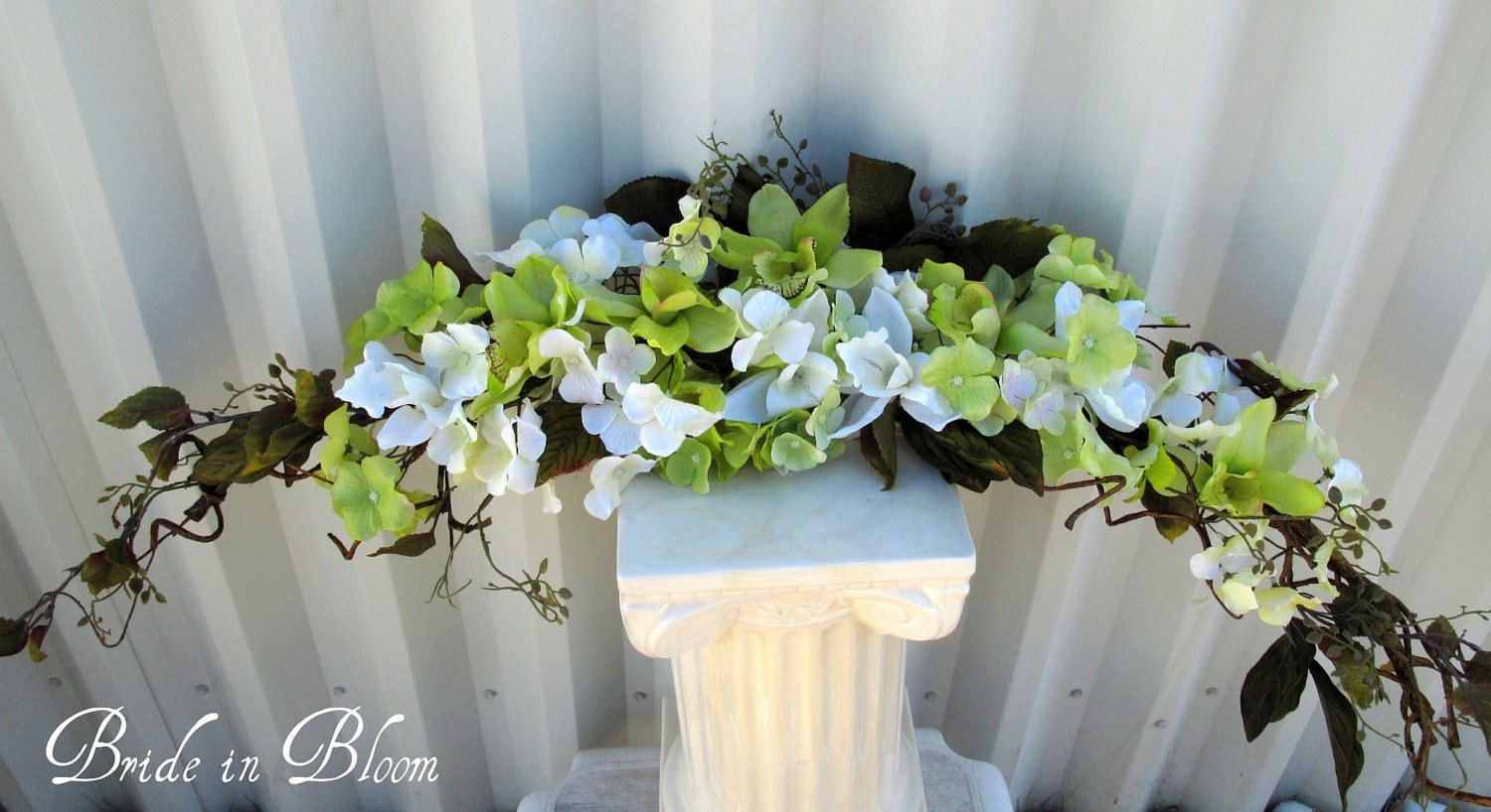 Orchid arch swag wedding decorations lime by for Bridal decorations