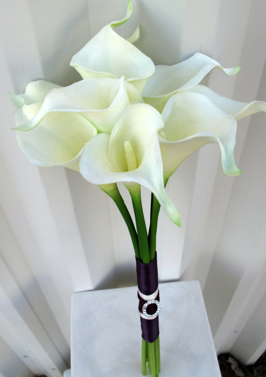 Building a Beautiful Calla Lily Wedding Bouquet ... |Lily Bridal Bouquets