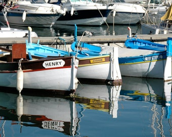 French Riviera / Boats Reflection/ Cap Ferrat 8x10 print