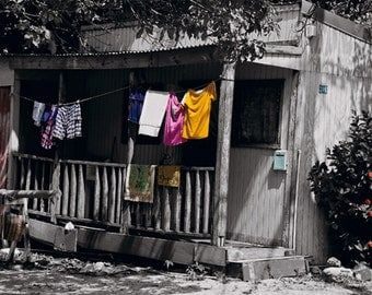 St Martin Laundry photo / 8 x10 Caribbean print /Tropical cottage / Caribbean photography