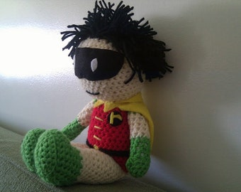 Crochet Tiny Titan inspired Robin Doll