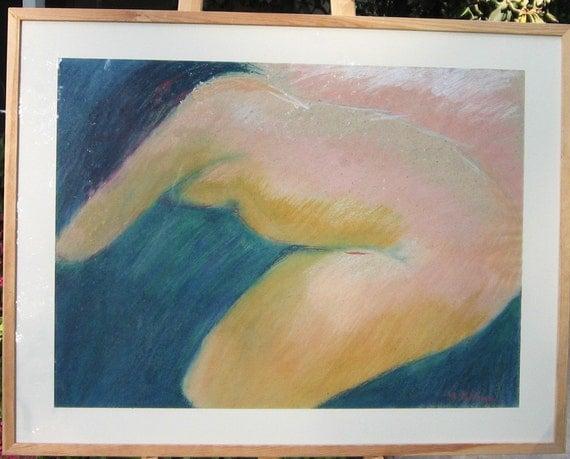 Original oil pastel painting, Gaia