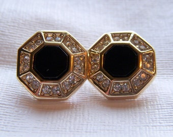 Grosse Octagon Rhinestone Earrings