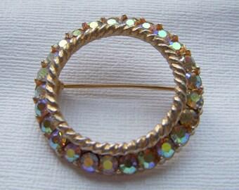 BSK Aurora Borealis Circle Brooch