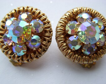 Aurora Borealis Round Earrings