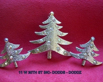 11 W 30th St Inc - Dodds - Doddz Christmas Tree Brooch and Earrings