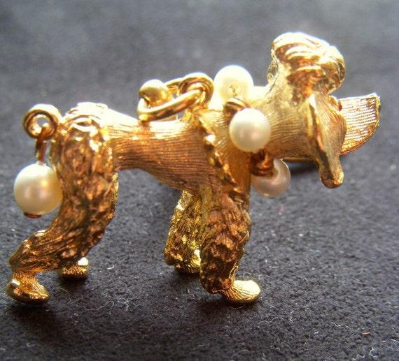Adorable Judy Lee Poodle Key Chain/ Purse Dangle
