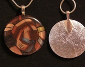Warpath - Transformers enamel pendant