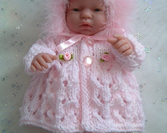 Knitting pattern for 10 inch dolls, Emmy, Berenguers