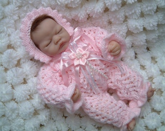 Knitting pattern for romper suit for 10 inch Emmy, Berenguers