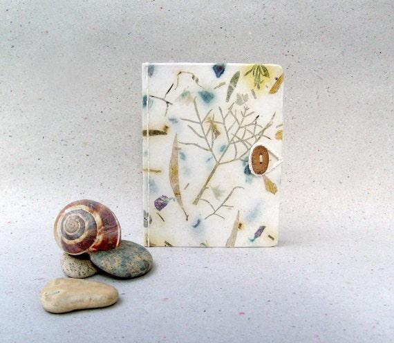 Rain forest Journal book, handmade paper , OOAK