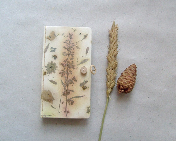Long Handmade journal , handmade paper , OOAK