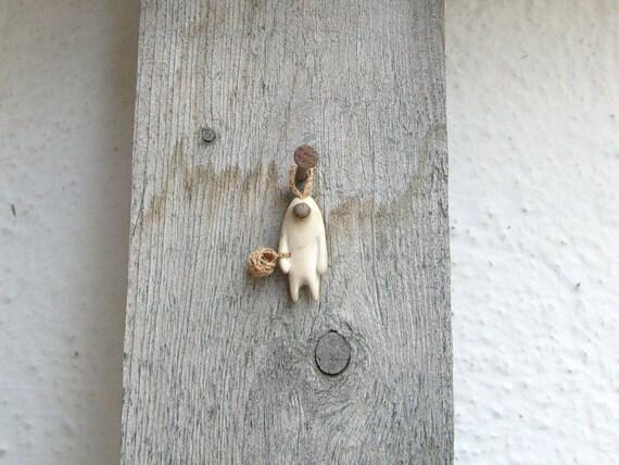 Woodland creature- Native wall art ,wood carving, OOAK