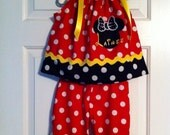 Minnie Mouse capri outfit 6 months up to size 8