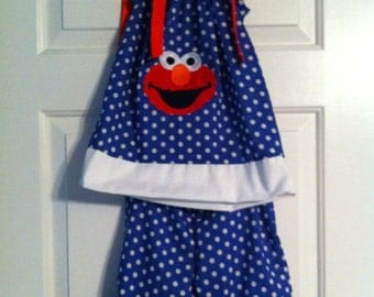 Elmo Pillowcase  Pants Outfit sizes 6 months up to size 8