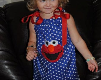 Elmo Dress | Blue Dot Dress | Pillowcase Dress | Ribboin Dress | Toddlers Dress | Party Dress |