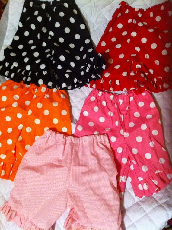 Ruffle Shorts in your Color any Fabric I have in Shop Size 3 months to Size 14