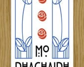 "Scottish Gaelic ""My Home"" Charles Rennie Mackintosh A4 Print"
