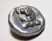 Pig Coin Heads or Tails READY TO SHIP Pocket Pal Good Luck Totem Collectible Coin