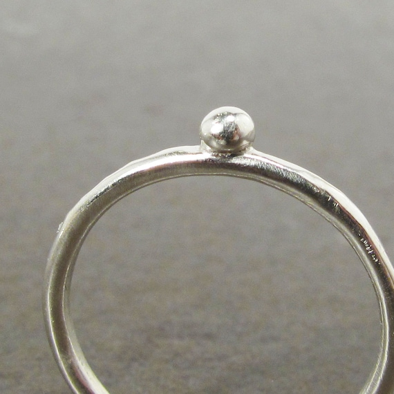 Simplest Silver Dot Stack Ring