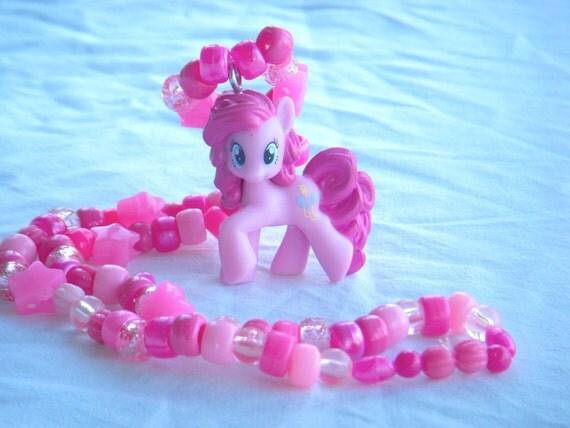 Pinky Pie My Little Pony Kandi Necklace