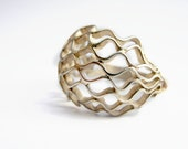 HIVE sterling silver ring modern Organic  Mesh jewelry design
