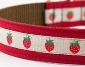 Strawberry Red Dog Collar
