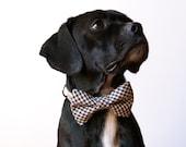 Farmers Checks Bow Tie Dog Collar