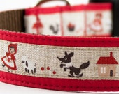 Little Red and the Big Bad Wolf Dog Collar