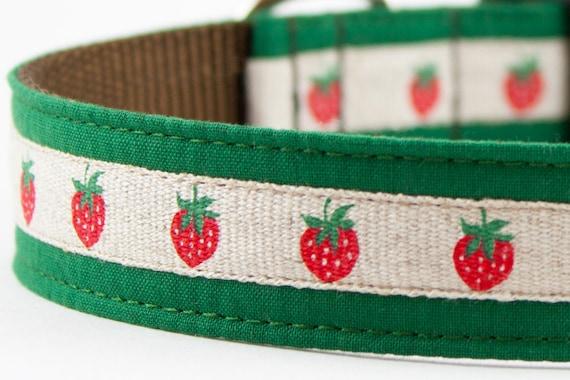 Strawberry Green Dog Collar