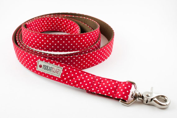Red Polka Dot Dog Leash
