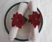 Holiday Poinsettia Napkin Rings