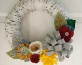 Confetti  Yarn Wreath 12""