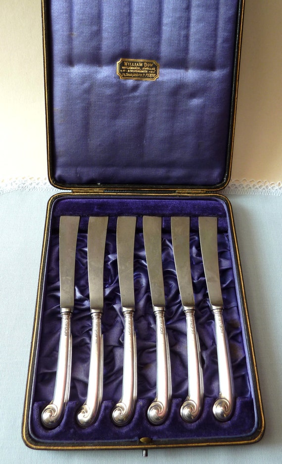 Antique Silver Butter Knives