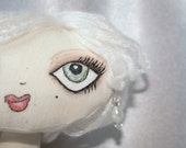 "Doll - Cupcake Cloth Art Doll - ""Creme Caramel"""