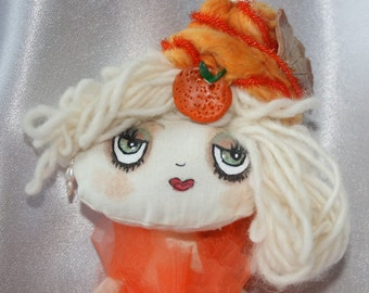 "Doll - Cupcake Cloth Art Doll - ""Tangy Temptation"""