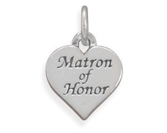 Oxidized Matron of Honor Charm, Sterling Silver Nr  73890