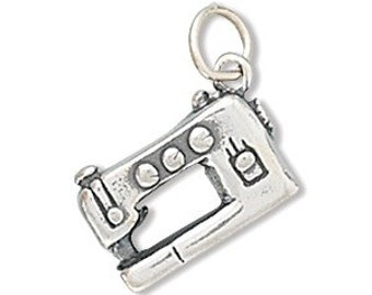 Sewing Machine Charm, Sterling Silver Nr  73020