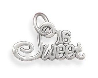 Sweet 16 Charm, Sterling Silver Nr 73043