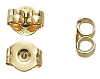 14K  Gold Friction Ear Nut Pair yellow or white gold