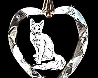 Balinese Cat Jewelry Austrian Crystal Pendant Custom Necklace Pendant Jewelry, Suncatcher made with any Animal or Name YOU Want, Gift, kitty