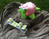 Polka Dotted Baby Turtle... Ribbon Sculpture Set